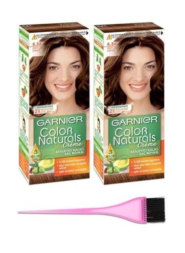 Garnier Garnier 2 Adet Color Naturals Saç Boyası 6.34 Boya Fırçası Renksiz